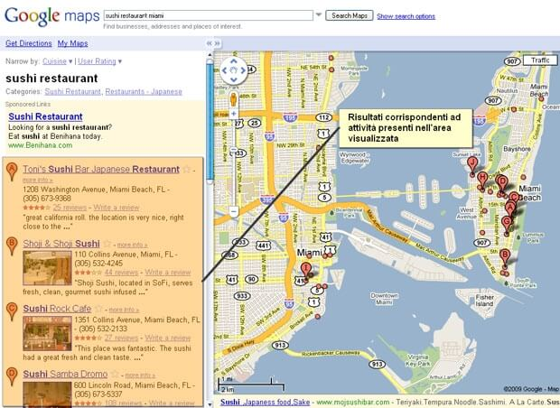 Google Maps real-time-search