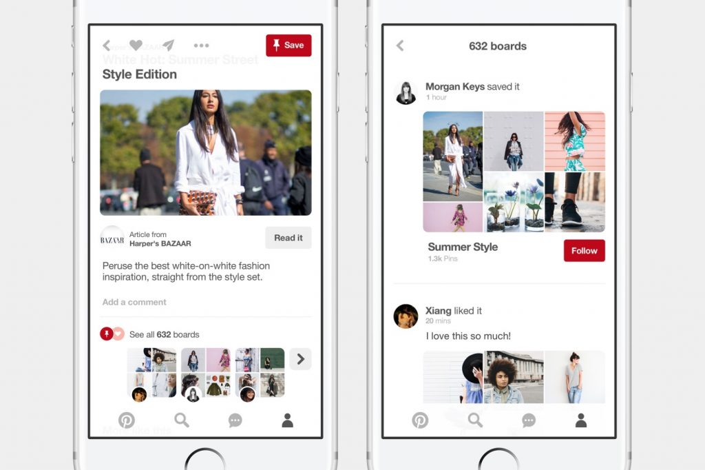 pinterest Discovery element