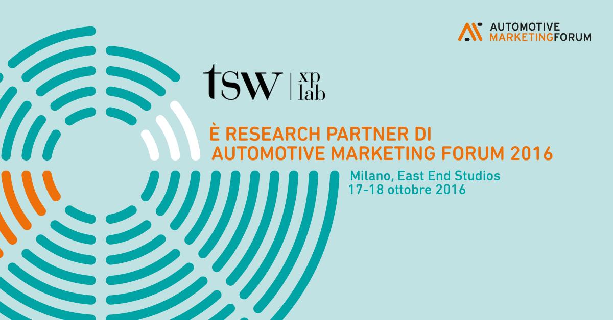 TSW e Quintegia: una partnership per tracciare le emozioni del Customer Journey all'Automotive Marketing Forum 2016