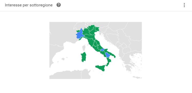 Ricerche brand su Italia per regione