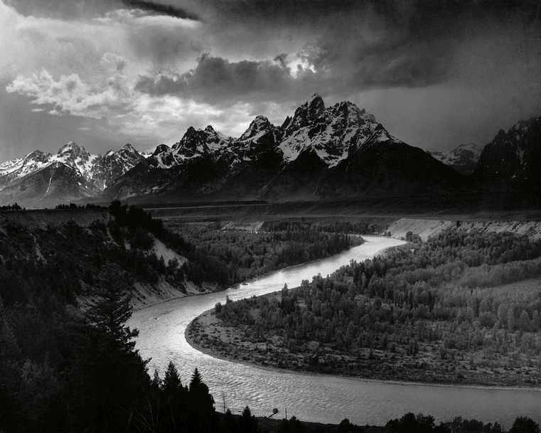 The tetons and the snake river