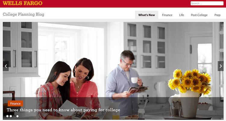 content marketing nel banking wells fargo college planning blog
